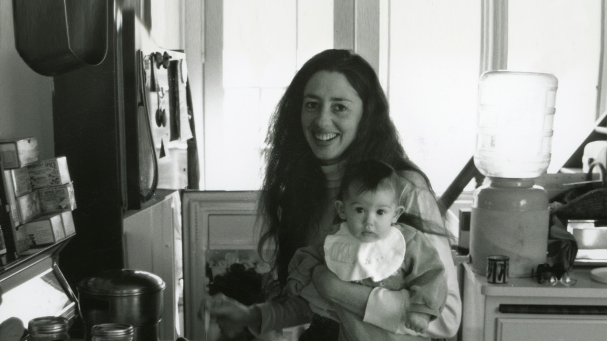 Amy's mum and baby in kitchen
