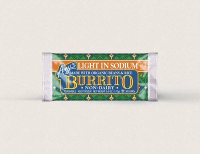 Bean & Rice Burrito, Non-Dairy, Light in Sodium hover image