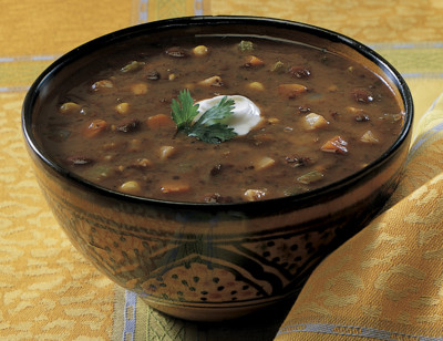 Organic Black Bean Vegetable Soup standard image