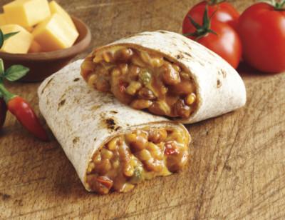 Cheddar Cheese, Bean & Rice Burrito standard image