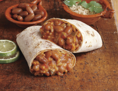 Bean & Rice Burrito, Non-Dairy, Light in Sodium standard image