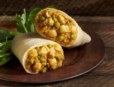 Indian Aloo Mattar Wrap, Gluten free standard image
