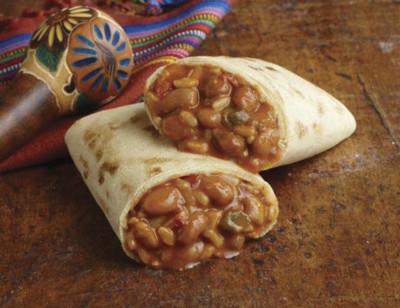 Bean & Rice Burrito, Gluten Free, Non-Dairy standard image