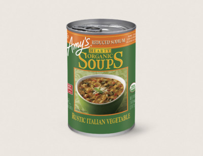 Organic Hearty Rustic Italian Vegetable Soup, Reduced Sodium hover image