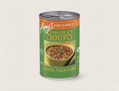 Organic Lentil Vegetable Soup, Light in Sodium hover image