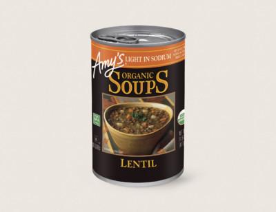 Organic Lentil Soup, Light in Sodium standard image