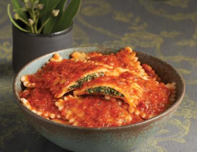 Vegan Spinach Ravioli Bowl standard image