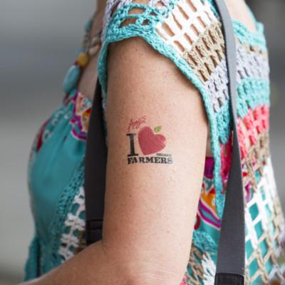 Amy's employee temporary tattoo