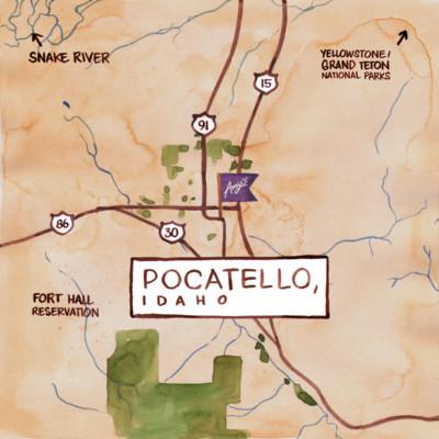 Amy's Pocatelo Map
